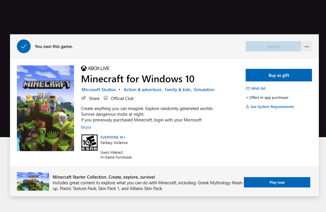 Minecraft Windows 10 won't reinstall. 7fd1be17-4aaf-43f0-8806-db950b424ebf?upload=true.png