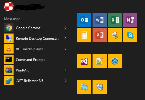 How do i repair accent color and tile menu color disparity? 7uNiP.png