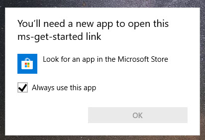 You'll need a new app to open this ms-get-started link 819b24bf-4475-487c-804e-955a24facdb1?upload=true.jpg