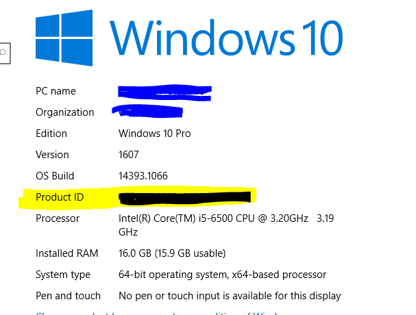 Windows key issue along with machine id 8259dd73-5f2e-40f9-8ef6-adf8e1d34a66.png
