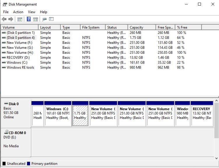 Healthy EFI Sytem Partition and Healthy Recovery partition next to my C drive -  Unable to... 85aa8c66-2f35-42c1-8269-ccc8143c1b26?upload=true.jpg