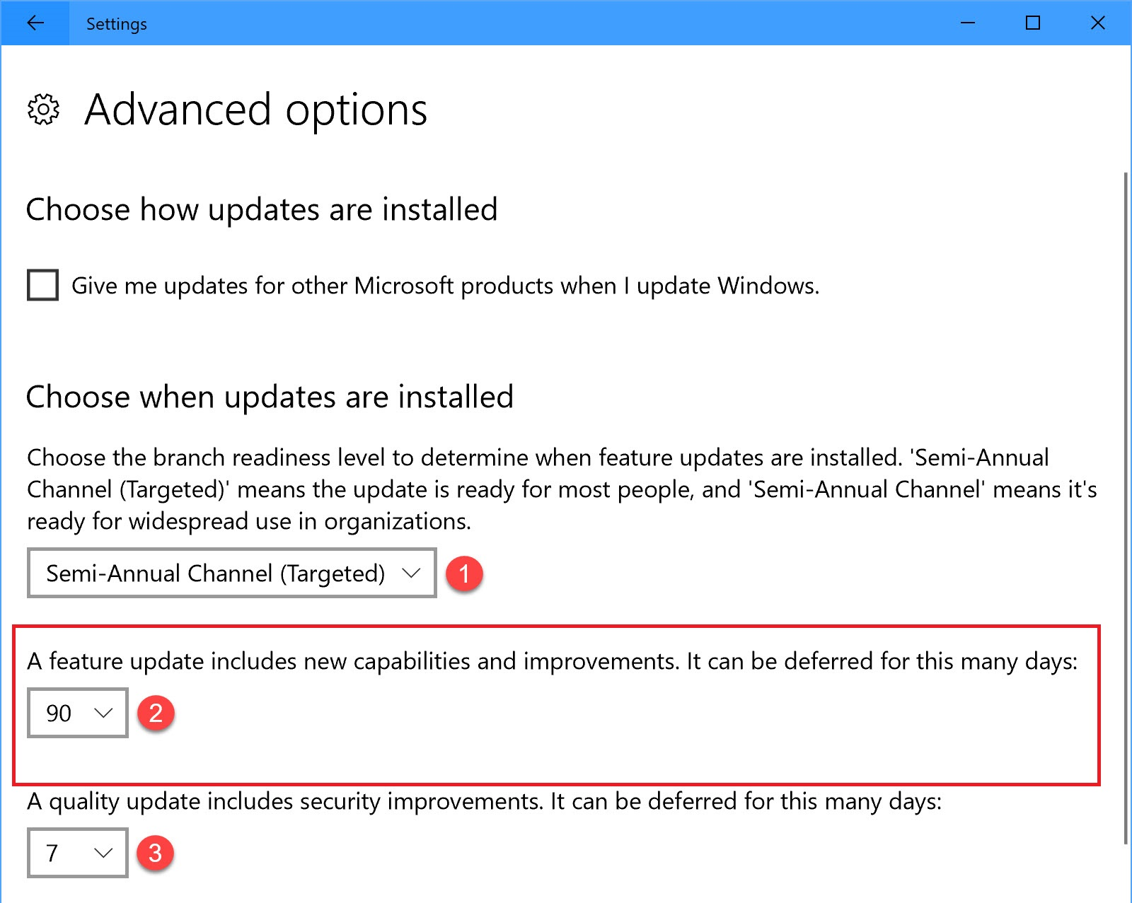 W10 Pro defer updates option is gone. 85ca87ce-4271-4bd6-a840-63f6c6b08ec1?upload=true.jpg