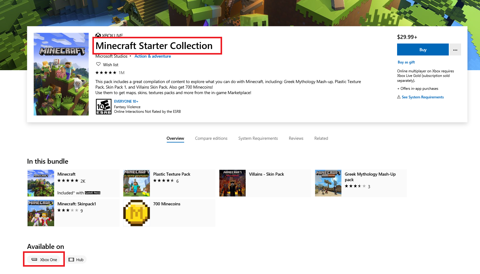Refund option not available for Minecraft Starter Collection 862d3756-fb82-4174-b532-f47bed2d4c72?upload=true.png