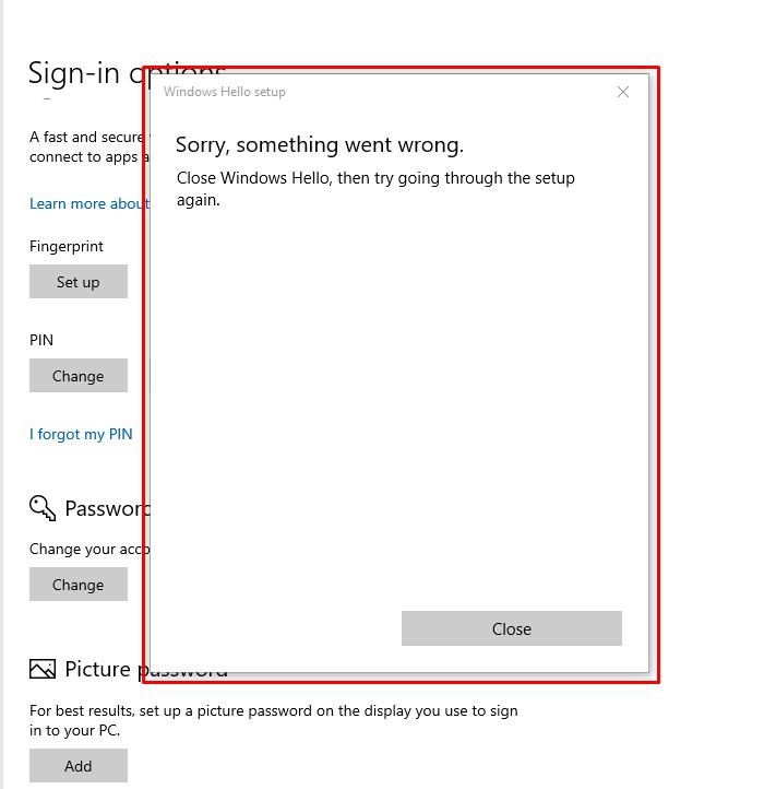 I am facing a problem to setup fingerprint on Windows Hello. 88add28c-8eac-41dc-ad19-2aa930a71da5?upload=true.png