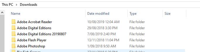 Windows 10 Pro 19042 explorer download folder group by date modified bug 8c11990f-28c9-4fae-a9d7-dd4aeaf8c66d?upload=true.png