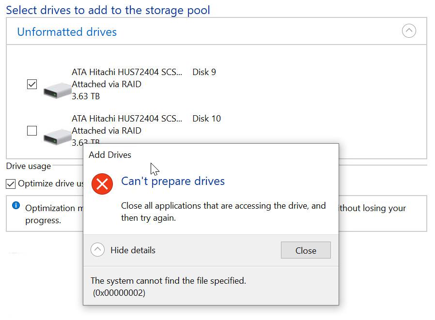 Unable to add new disks to storage pool 8e208199-22dc-4eff-a6ca-f789dfc376f9?upload=true.jpg