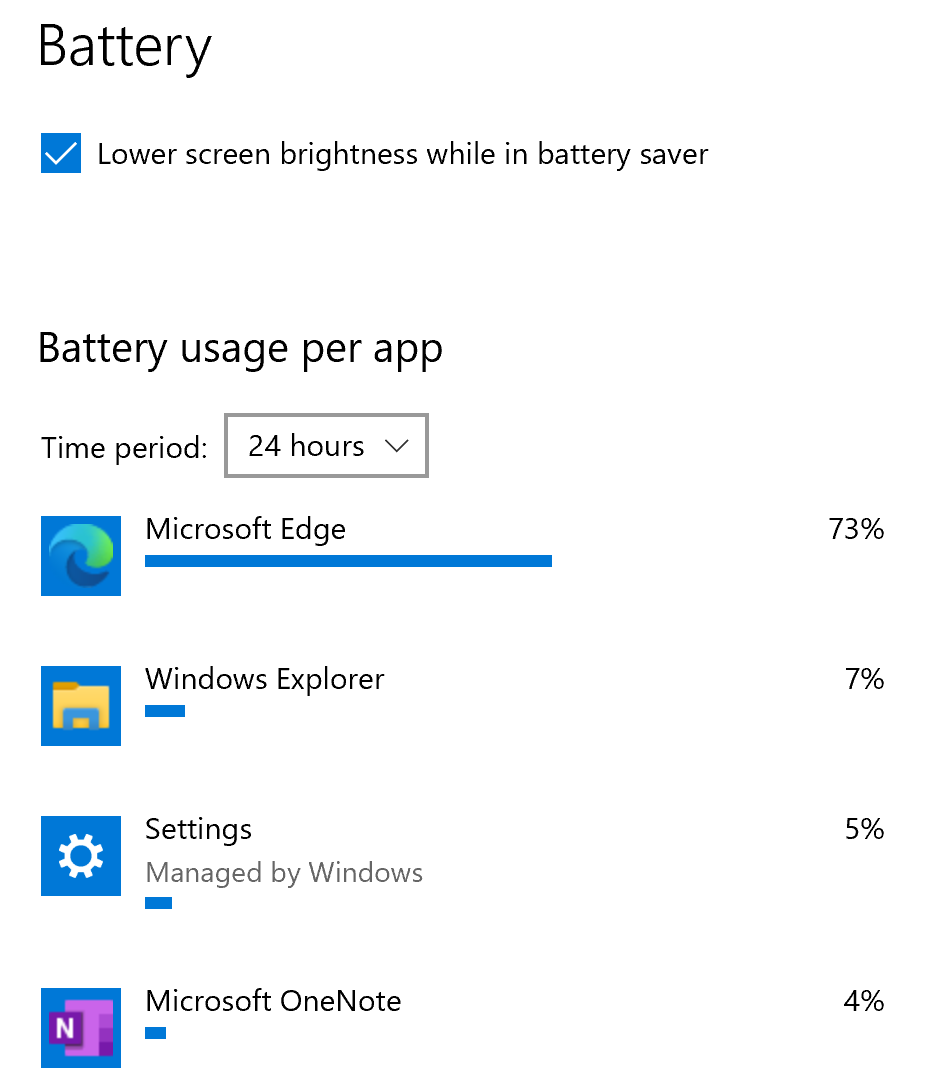 Surface Pro X   Microsoft Edge is draining the battery