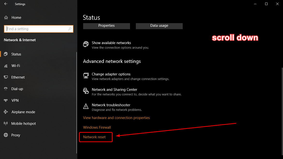 How to reset network settings in Windows 10 8fc443eb-591d-4c63-bd18-680473bba224?upload=true.png
