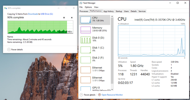 File transfer spikes. File is on Disk 1 but Disk 0 (SSD) is spiking. What's going on? 8glsjh7jc6t61.png