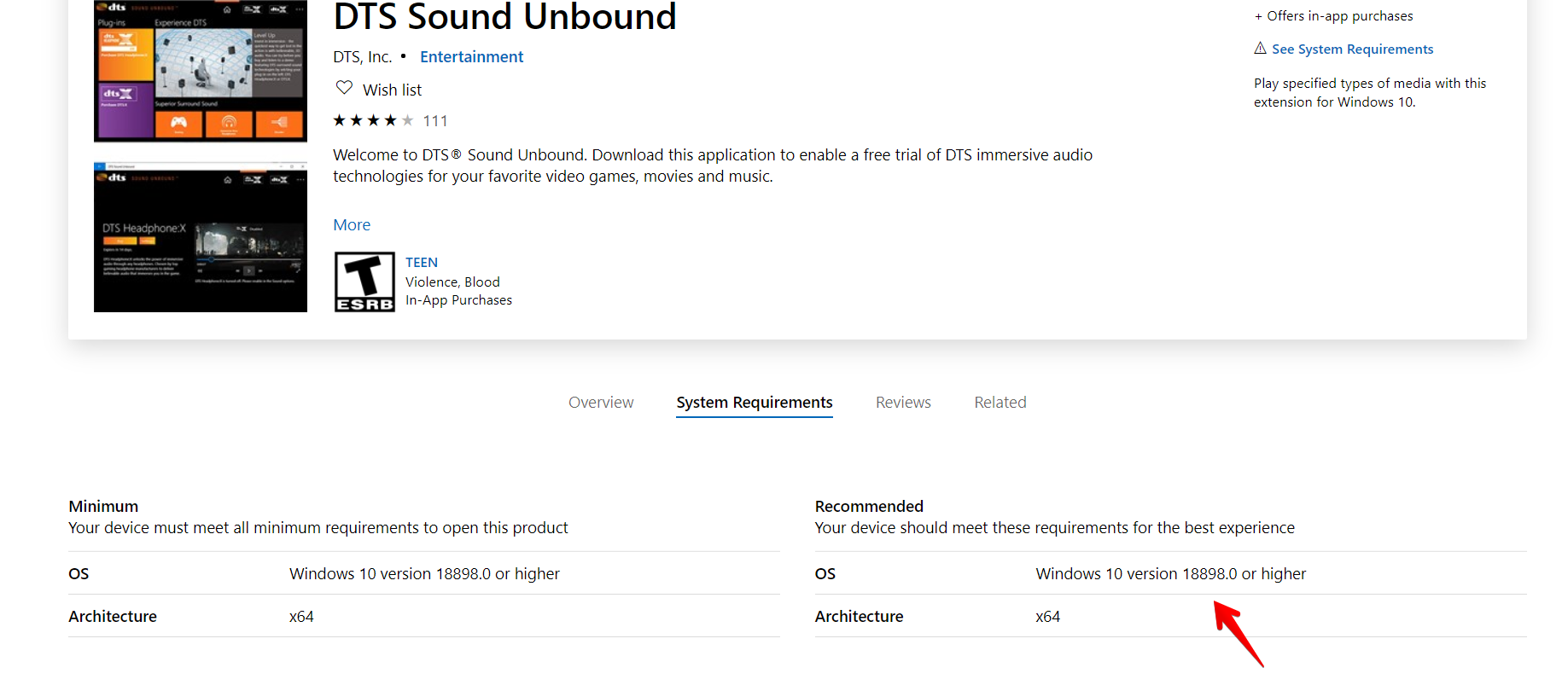 DTS Sound Unbound only gives option to buy or try free trial, even after purchase 90083ed8-70e9-43d9-9bf6-9009ea403106?upload=true.png