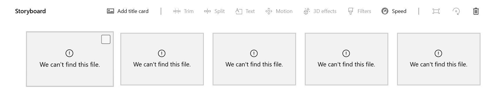 """We can't find this file"" Video Editor - I'm at a lost. 907b6b0a-e266-450a-b3bc-255caf5fe81a?upload=true.png"