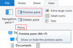Preview Pane in File Explorer turns on by itself 9268fd52-a2eb-45b7-9e65-9eed7f92b5bb.png