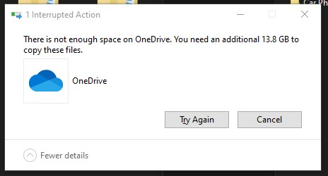 Error while copying data to external drive from OneDrive 948ae662-721e-49f3-8c89-5234aed5d6f7?upload=true.jpg