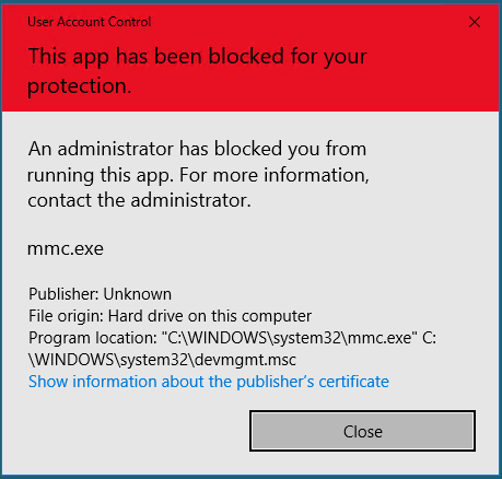 NO ACCESS TO DEVICE MANAGER mmc.exe 94e9271b-fe3f-47c4-9d96-62f2aaef6259?upload=true.png