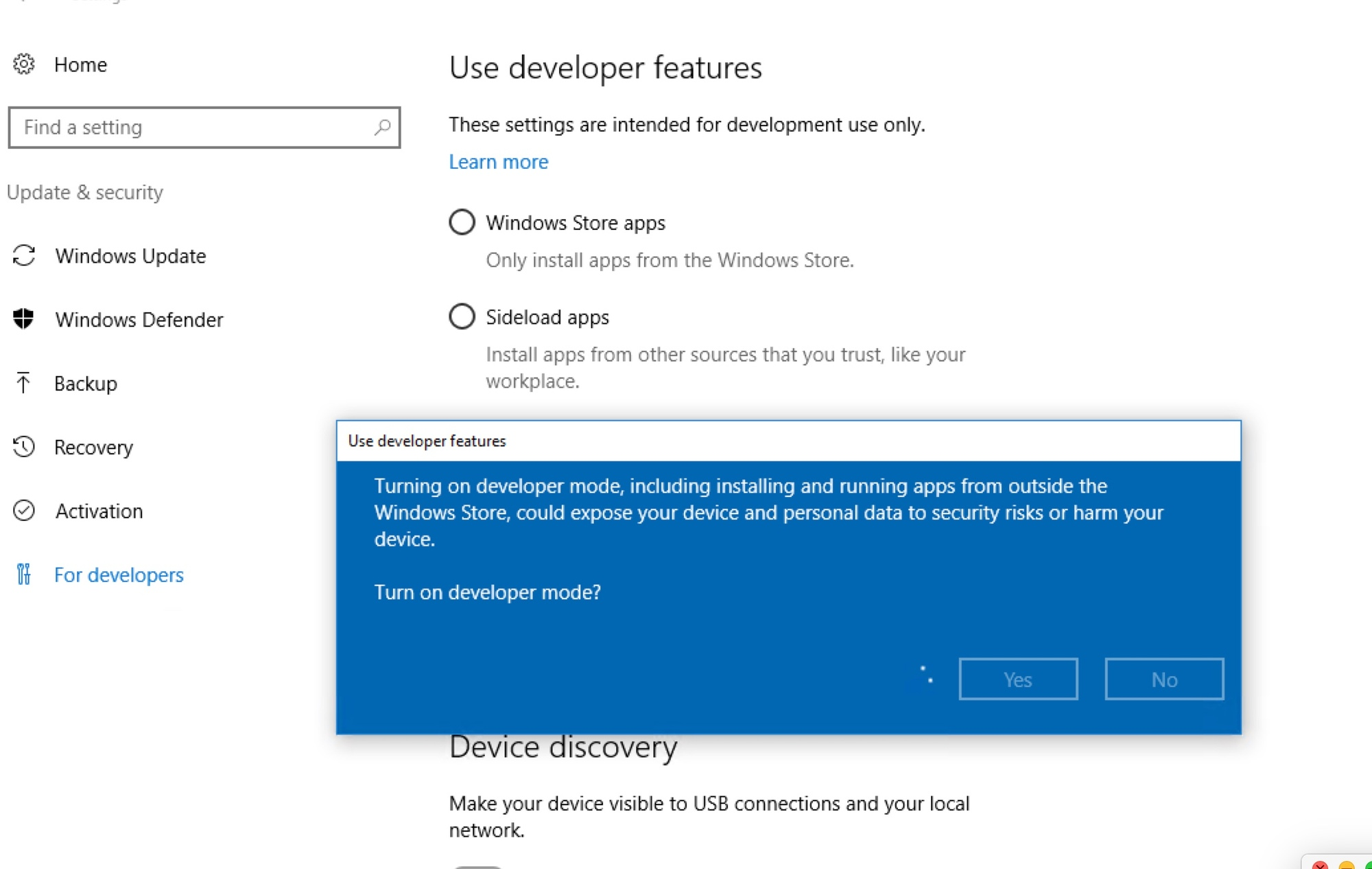 Windows 10 - can't install developer tools 970bfc7a-8a94-4af6-9b38-59afbdf776f6?upload=true.jpg