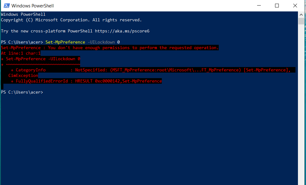 My virus and threat protection is saying page not available. 97821241-30d0-4859-8374-02f8d72cb1e2?upload=true.png
