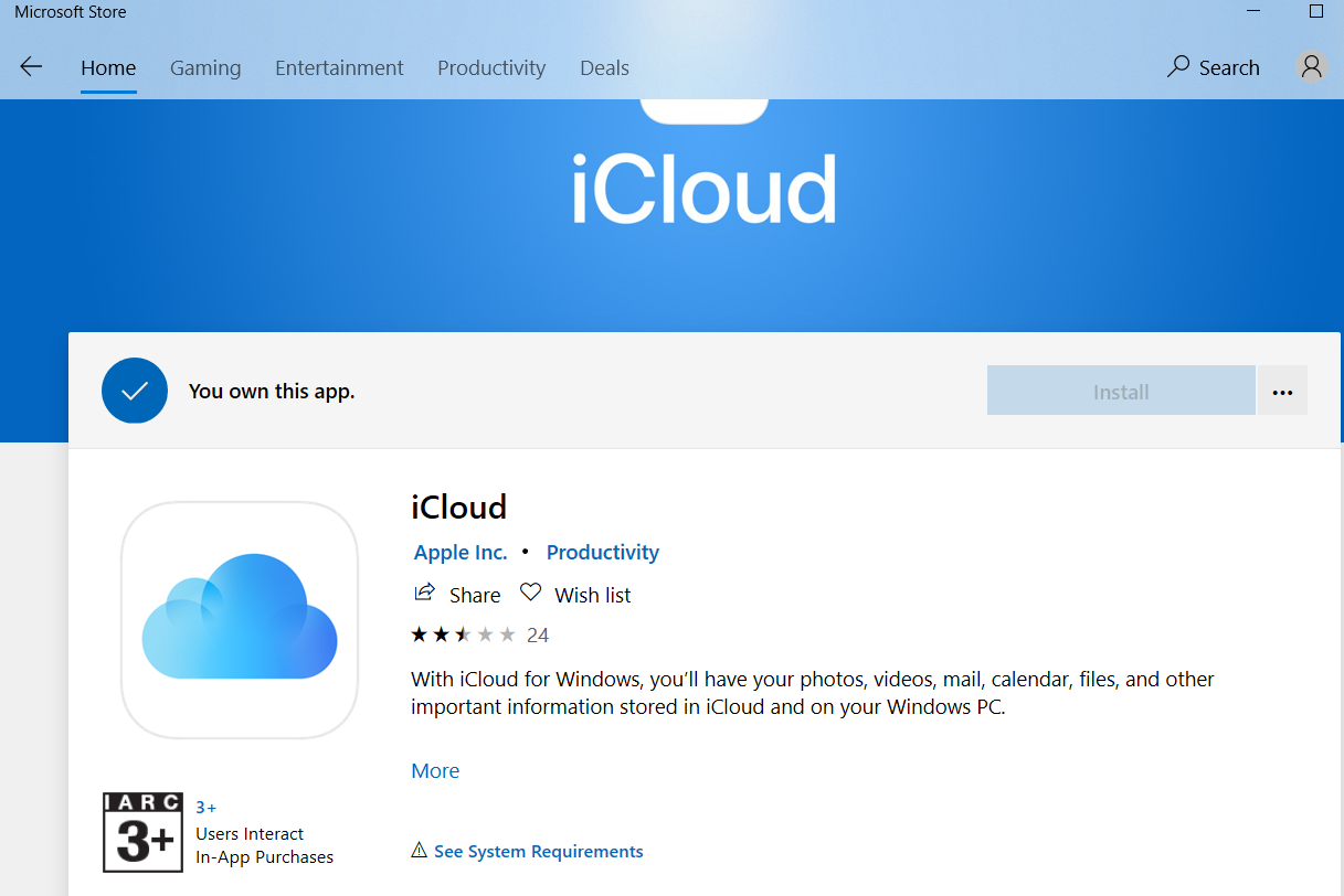 Trying to download/install iCloud for Windows 10 984191c9-e7f4-46a7-9009-07733edb414c?upload=true.png