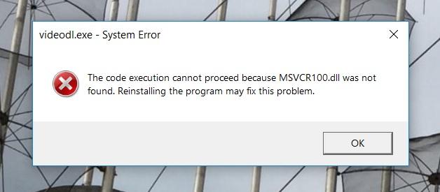 PROBLEM FOUND IN RIGHT CLICK MENU    &           MSVCR100.dll was not found 99b15d61-67ed-4a3c-93bf-5c8204a1f50f?upload=true.jpg