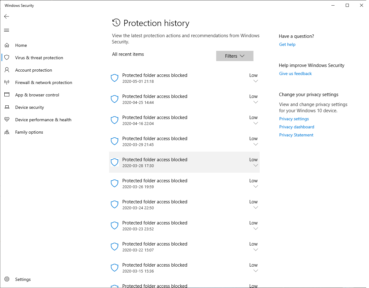 Windows defender protection history is missing 9af8a9e6-46b3-4c03-82b5-a3a21d2cdcb5?upload=true.png