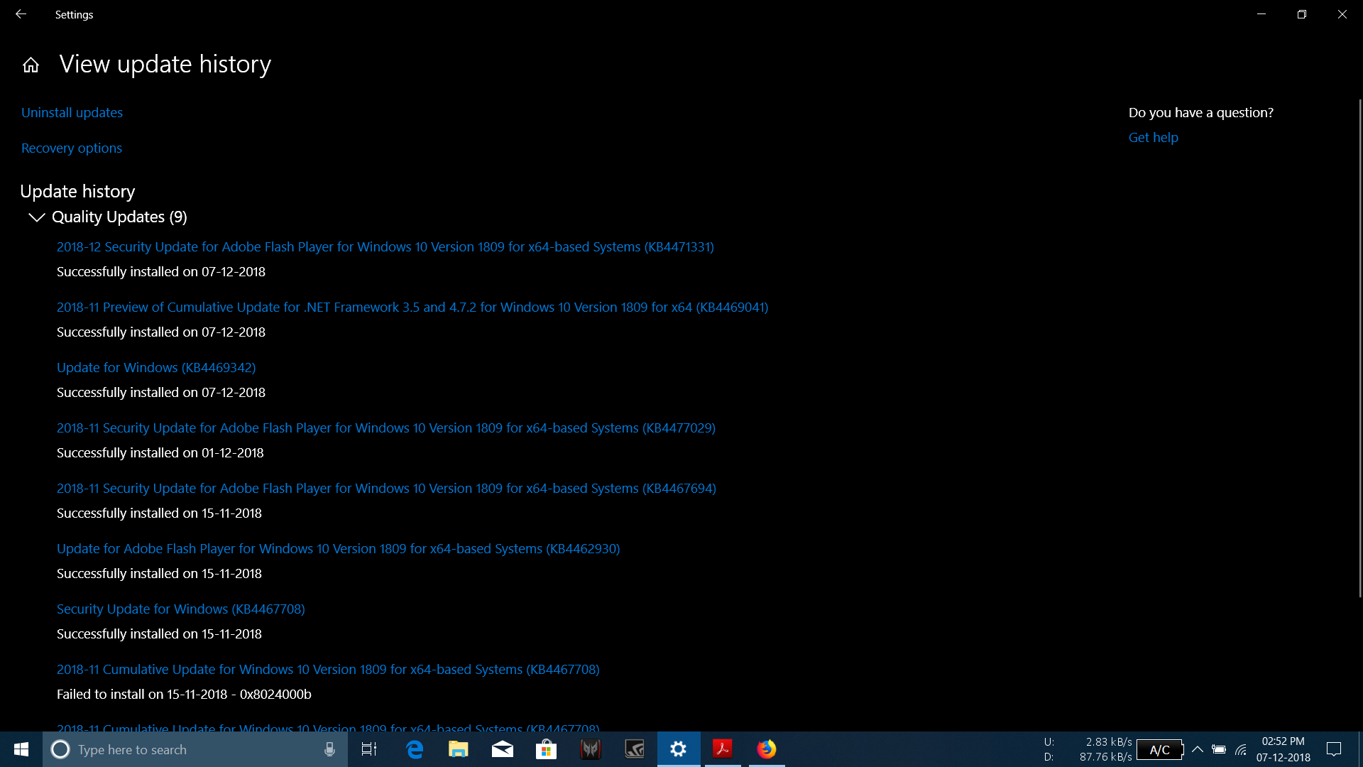 Windows Update tries to install an already-installed update. 9bd3402b-6d3c-4e4a-abf0-ed7797cbf6da?upload=true.png