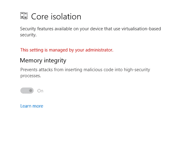 How to disable Core Isolation 9c4ca03d-c252-4b5e-b4ab-ea01495f11b8?upload=true.png