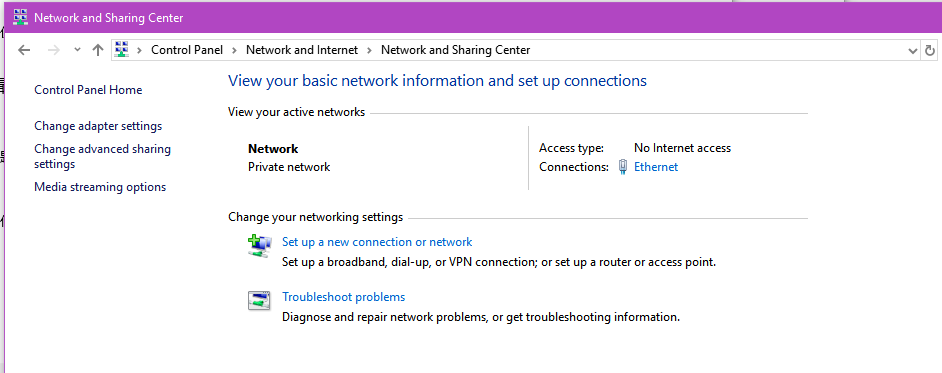 Can connect to Internet but Windows reports
