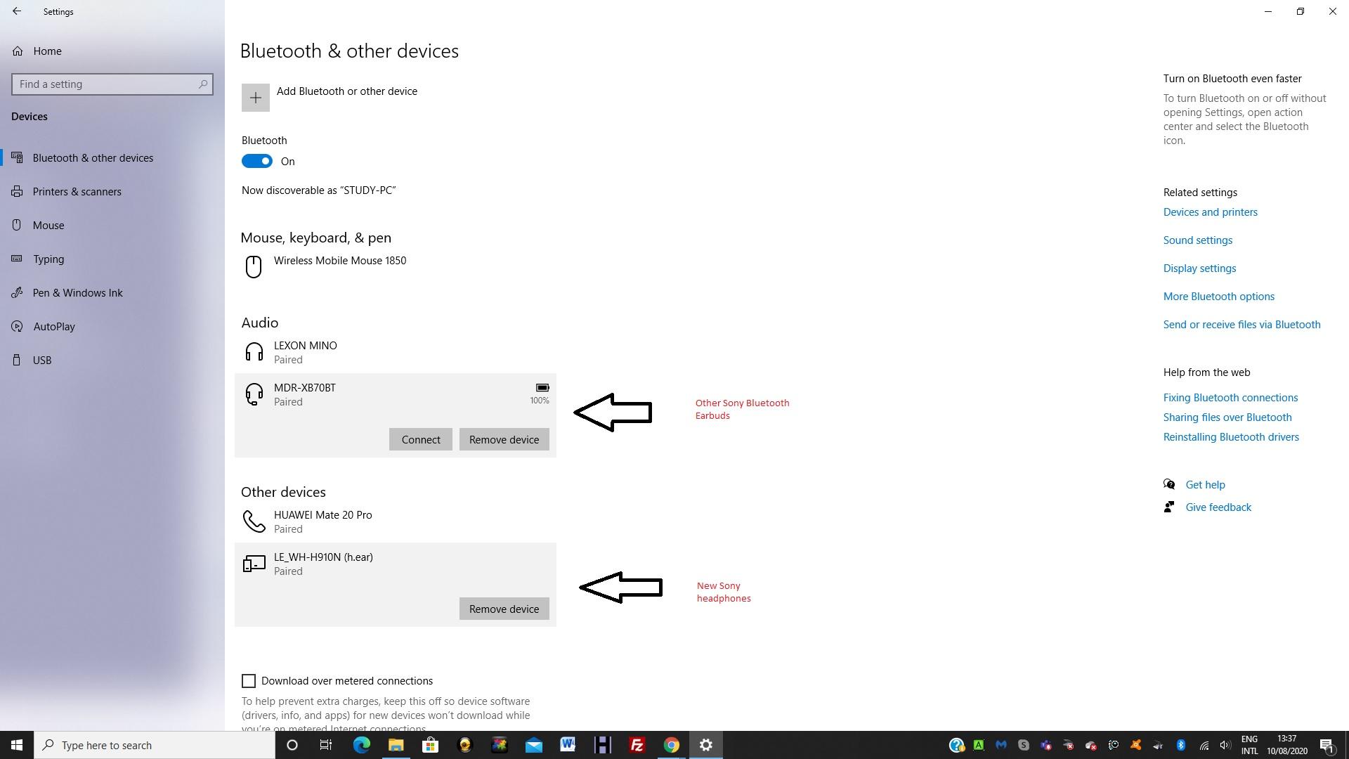Sony WH-XB900N Headphone pairing but not recognised as an audio device 9ef758e5-0c05-4deb-a47b-e16d34ba9ade?upload=true.jpg
