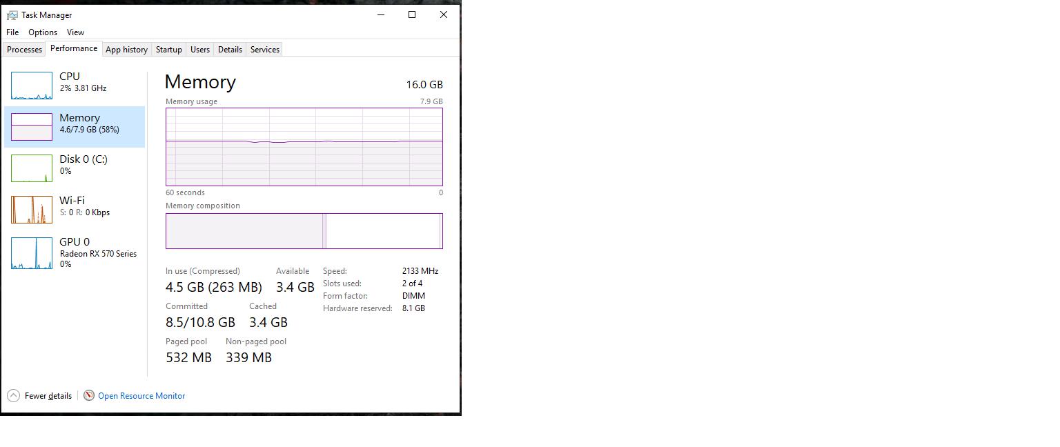 Aorus B450 M bios seeing 16gb of ram Windows only seeing half. 9f716bc6-d8e6-492e-8407-acbd18b964d7?upload=true.png