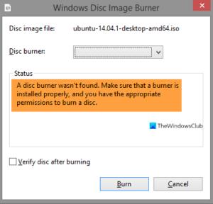 A disc burner wasn't found error in Windows 10 A-disc-burner-wasnt-found-300x288.png