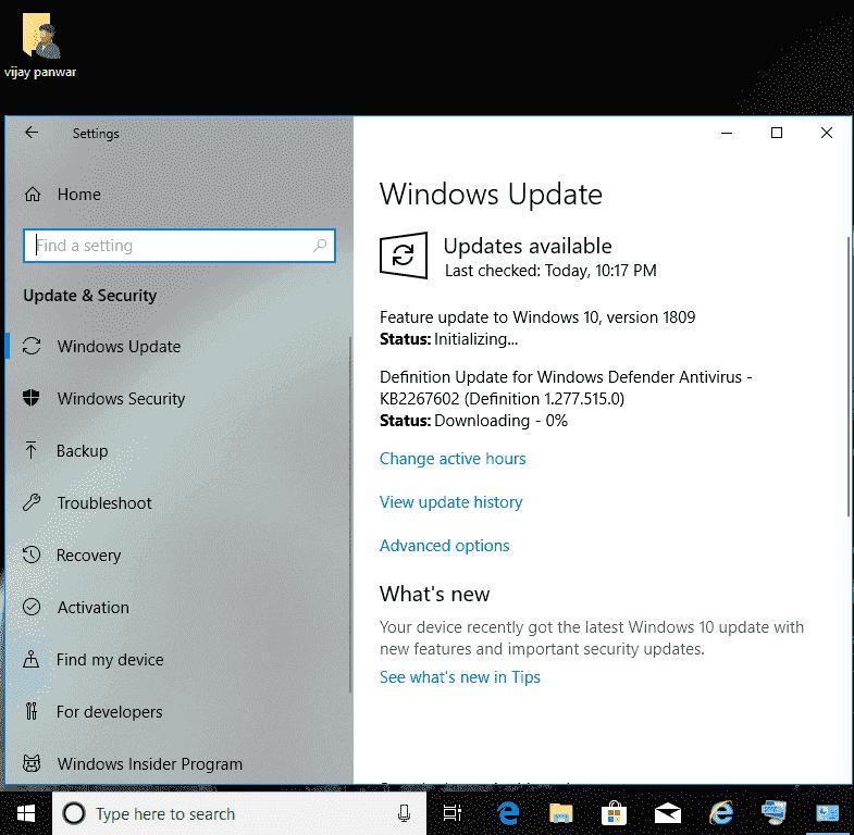 1809 update size
