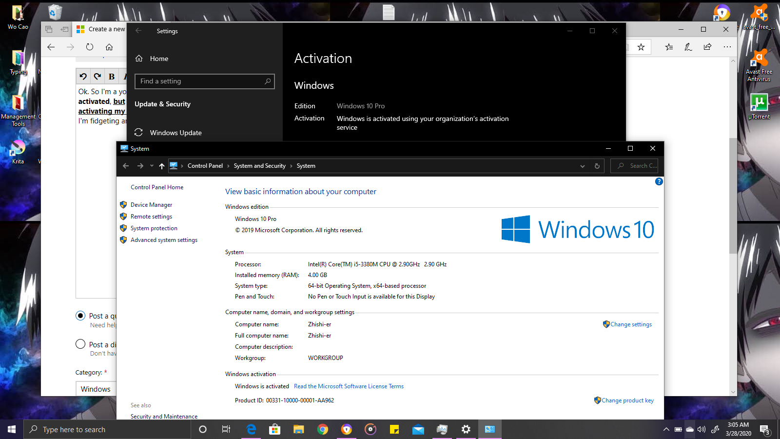 Windows 10 Pro Activation - Windows is activated using your organization's activation service a0f93d8a-7636-40ca-918e-a003f66d5fc8?upload=true.png