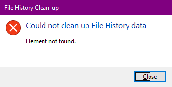 Windows 10: Could not clean up File History data a16b2905-0c14-4fea-b848-c6e4777f3254?upload=true.png
