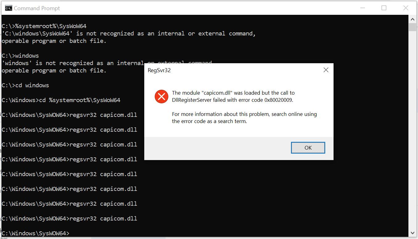 Error Dllregisterserver failed with error code 0x80020009 a31921d7-830b-456a-aa82-98c70840f327?upload=true.png