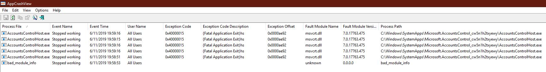 Windows Mail Cannot Remove Account, logs AccountsControlHost.exe error 0x40000015 a37b5566-b5f6-46d0-9334-5175ebf5a401?upload=true.png