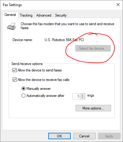 Windows Fax and Scan does not recognize my fax modem. a88851cb-1afd-432b-9c1a-458e74da4d38.png