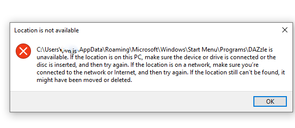 'Location not available' after uninstalling program. aa105b9e-5c31-4883-95b3-77cd74f96371?upload=true.png