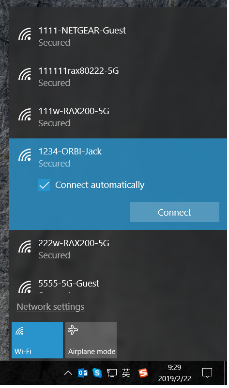 win10 wireless tools connect the WIFI network fail via WPS