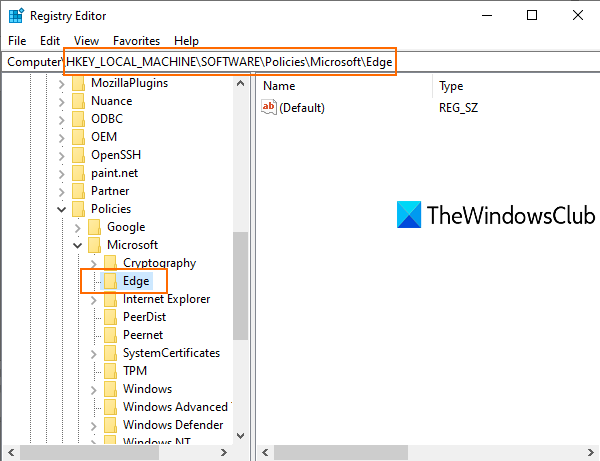 Enable System Print Dialog in Microsoft Edge in Windows 10 access-Edge-registry-key.png