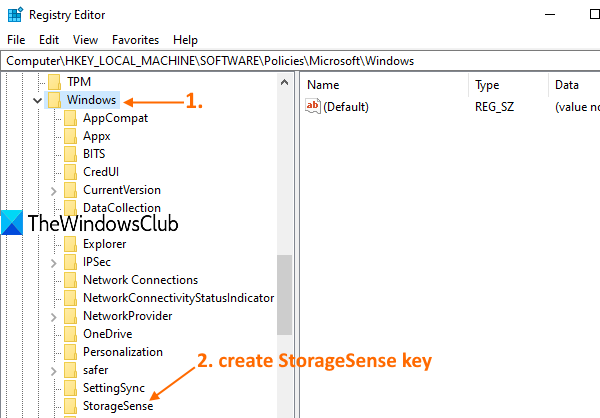 How to Disable Storage Sense in Windows 10 access-Windows-Registry-key.png