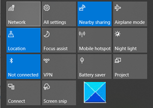 How to reset Quick Actions in Action Center in Windows 10 action-center-personalized.png
