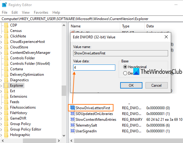 How to Show Drive Letters first before Drive Names in Windows 10 Explorer add-4-ShowDriveLettersFirst-Value-data.png