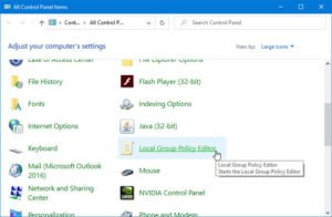 How to add Local Group Policy Editor to Control Panel add-local-group-policy-editor-to-control-panel-300x196.jpg