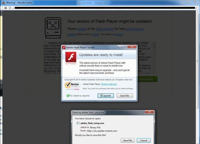 Fake Adobe Flash Player popup Installer and Redirect Virus adobe-flash-palyer-outdated-virus.jpg