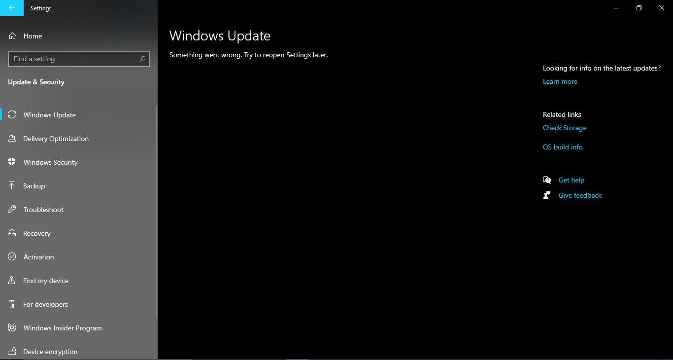 "WINDOWS UPDATE ""SOMETHING WENT WRONG TRY  TO REOPEN SETTINGS LATER af7cd71c-20a5-4f61-a94b-a711f62fc9fe?upload=true.jpg"