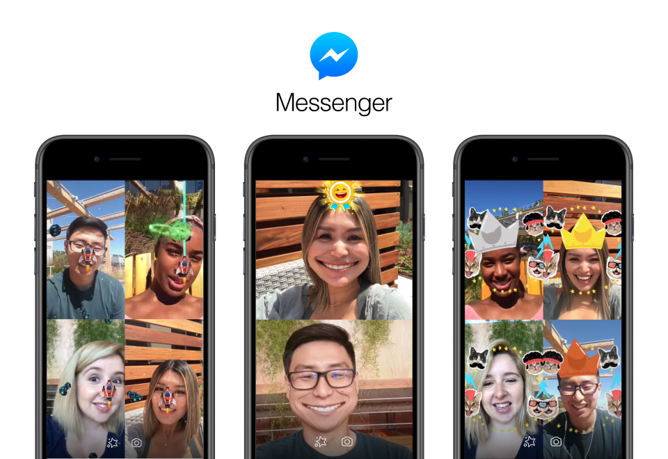 """messenger video chat reads"""" failed call"""" ar-games_static.png"""