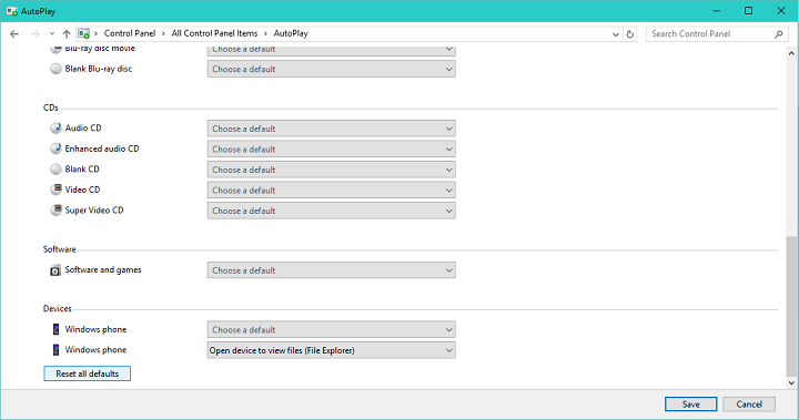 New build - external DVD unable to browse content or autoplay autoplay-problems-windows-10.png