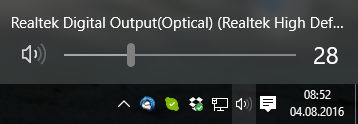 Why does my optical audio output driver always reset volume to 49 when restarting? (after... aWNeG.png