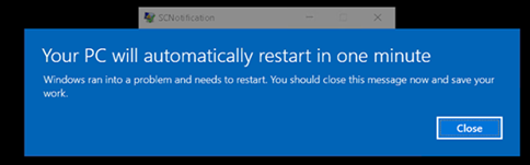 Your PC will automatically restart in one minute after in-place upgrade from 1703 - 1809 b1a493ac-008d-45e0-8dee-b967f981fdc2?upload=true.png