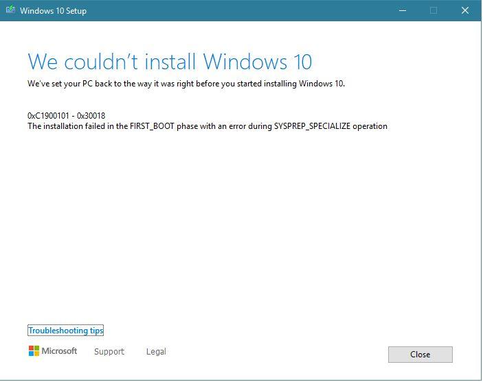 Windows 10: Error preventing update from 1909 to 20h2. Installation stucks at 48% then... b2d27895-6881-4307-8858-d5a4c269b992?upload=true.jpg