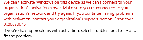 """Error when activate window 10 pro """"can't connect to your organization"""" pls help b5b7ac9e-1386-405c-bbc1-49e06265feac?upload=true.png"""